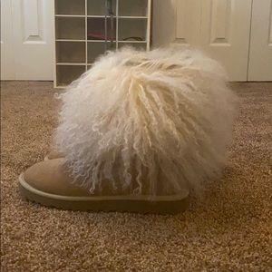 Ugg Mongolian Fur Short Boots